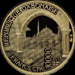 Монета Сердце Чечни 15.55 г  10000 XAU Золото упаковка